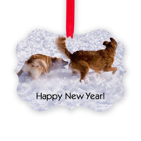 """Happy New Year"" Picture Ornament20 pk)"