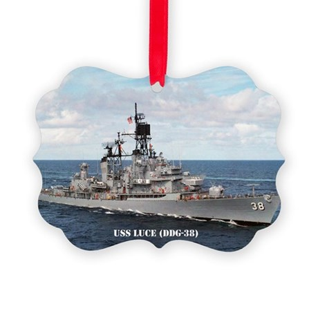 USS LUCE Picture Ornament