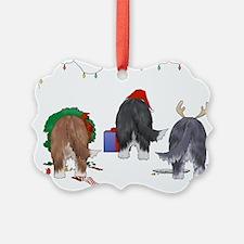Bearded Collie Christmas Ornament