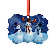 Let It Snow Snowmen Ornament
