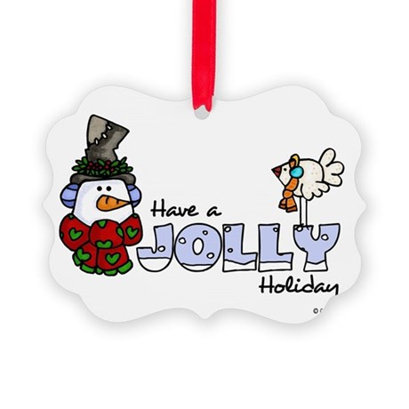 Jolly Holiday Picture Ornament