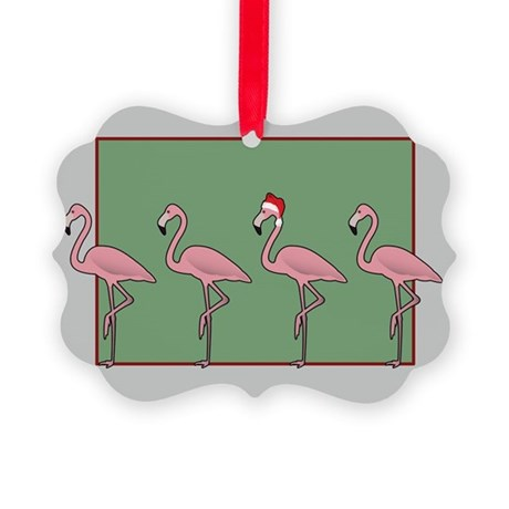 Tropical Christmas Picture Ornament