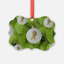 Yellow Ribbon Balls Ornament