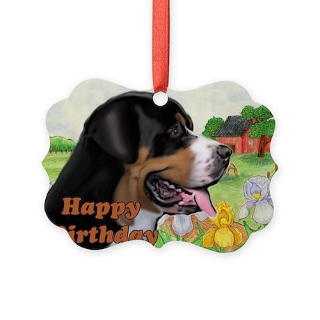 Swissie Birthday Picture Ornament
