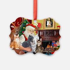 Santa's Five Cats Ornament