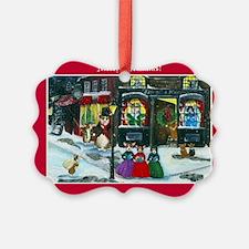 A Christmas Carol Corgi Cards Ornament