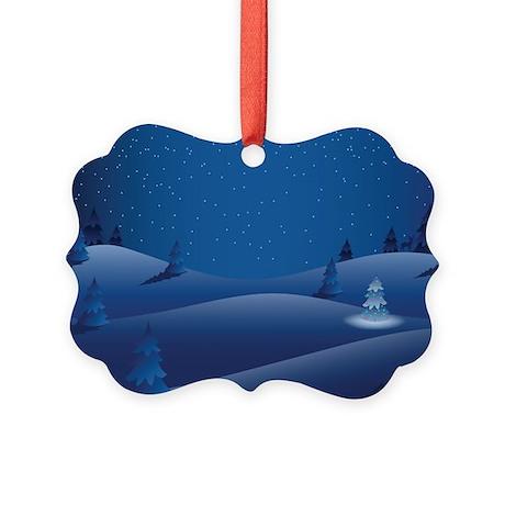 Snowy Night Picture Ornament