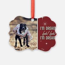 StubbyDog Dashing Dog Ornament