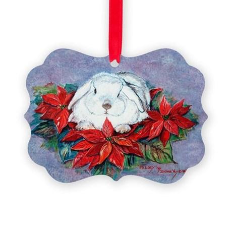 White Rabbit Christmas Picture Ornament20)