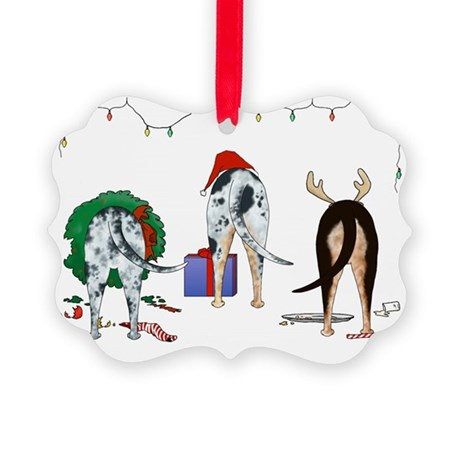 Catahoula Christmas Picture Ornament