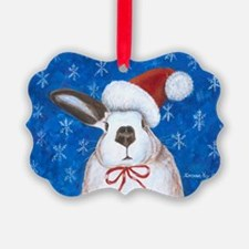 Santa Rabbit Ornament
