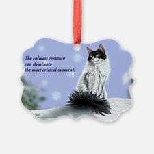 Excellent calm skogkatt Ornament