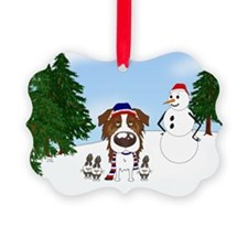 Red Aussie Holiday Picture Ornament