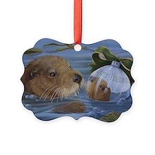 Christmas Otter Ornament