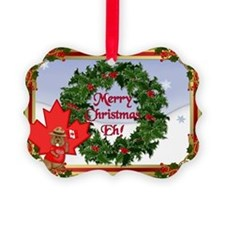 Christmas Greetings from Canada Picture Ornament