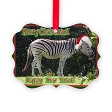 Helaine's Zebra Christmas Ornament0