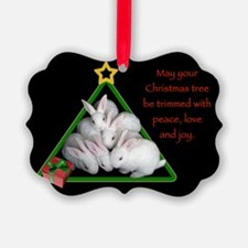 Baby Bunnies Christmas Tree Ornament