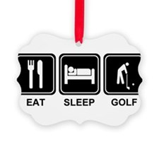 EAT SLEEP GOLF Ornament