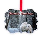 Wolf Picture Frame Ornaments