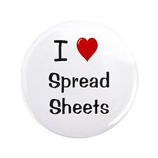 "I Heart Spreadsheets 3.5"" Button Badge"
