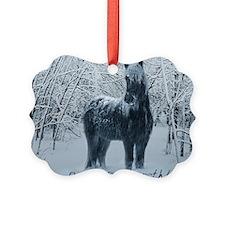 Winter horse. Christmas horse Ornament