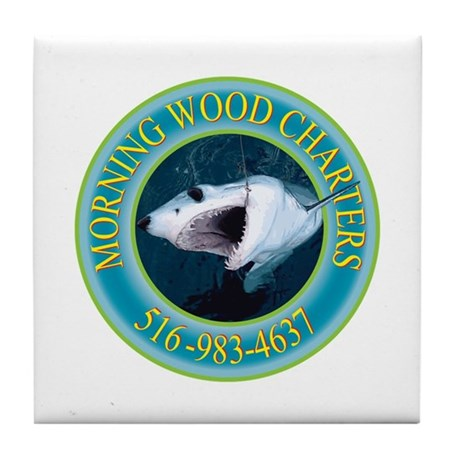 Morning Wood Charter Mako Tile Coaster