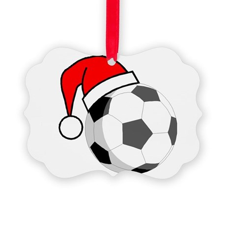 Soccer Greetings Picture Ornament