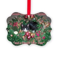 Tuxedo Kitten Christmas Ornament