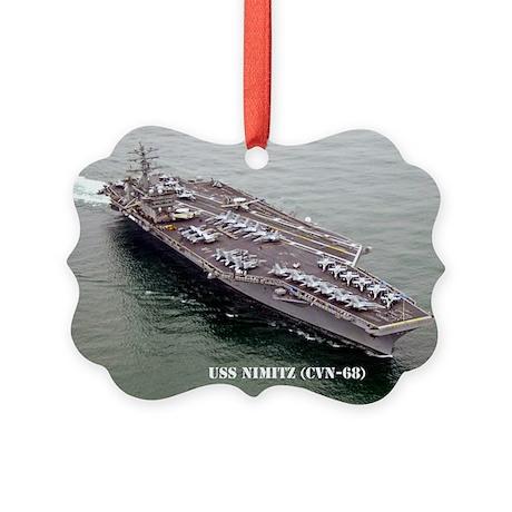 USS NIMITZ Picture Ornament