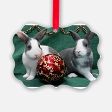 Bunnies with Ornament Christmas Ornament