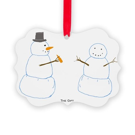 Snowman Donor Christmas Picture Ornament