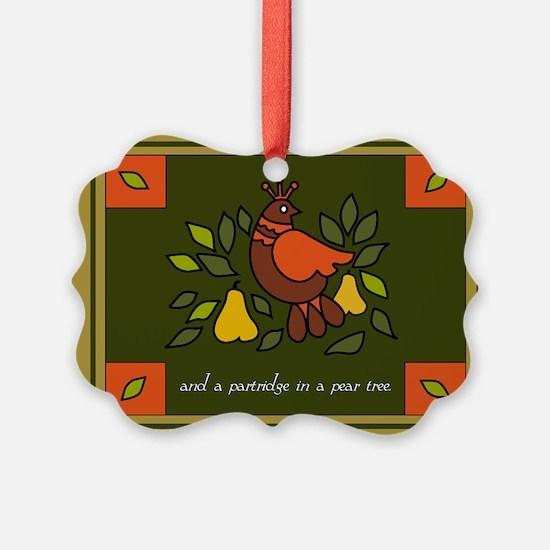 Christmas Partridge Ornament