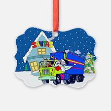 Trucker Santa Christmas Ornament