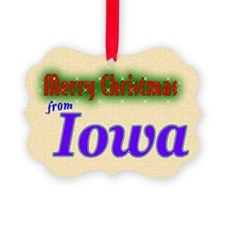 Merry Christmas from Iowa Ornament0