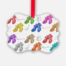 Colors and flamenco shoes Picture Ornament0