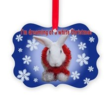 "Bunny ""White Christmas"" Ornament"