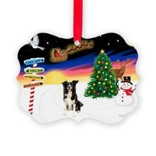 XmasSigns/BorderCollie 4 Ornament