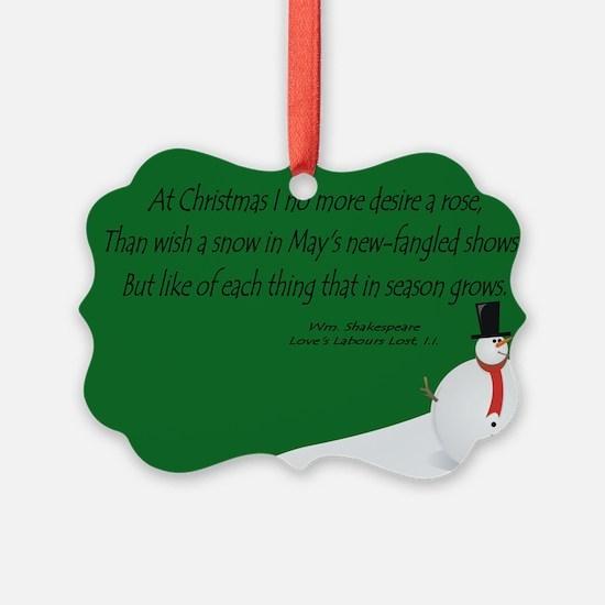 Shakespeare's Christmas Ornament