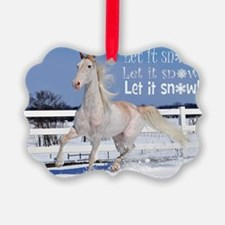 Red Roan in Snow Ornament