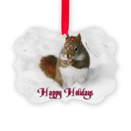 Seed Stealer Holiday Picture Ornament