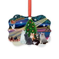 Xmas Magic / Six Cats Ornament