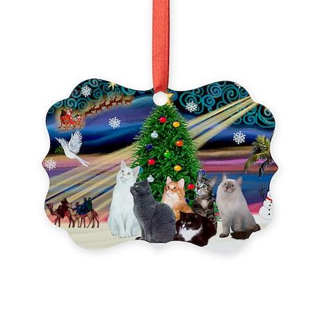 Xmas Magic / Six Cats Picture Ornament