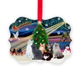 Cat christmas Picture Frame Ornaments