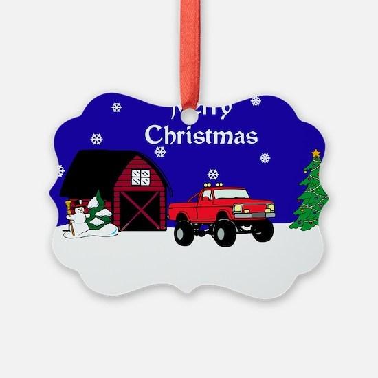 4x4 Truck Christmas Ornament