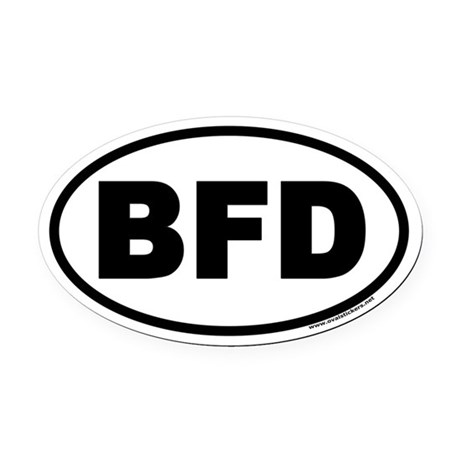 BFD Oval Car Magnet