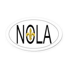NOLA Oval Car Magnet