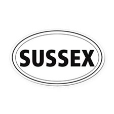 Sussex Spaniel Oval Car Magnet