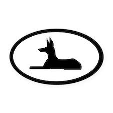 Ibizan Hound Oval Car Magnet
