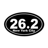 26.2 nyc Oval Car Magnets