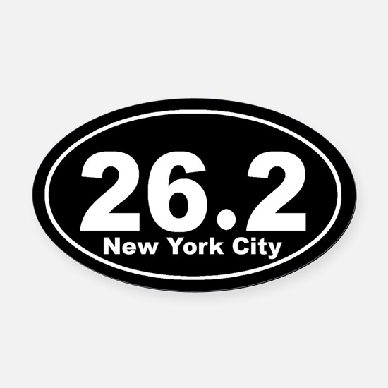 26.2 New York City marathon Oval Car Magnet